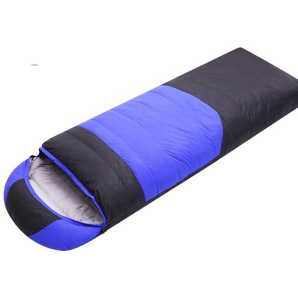 Outdoor camping Envelope type Down sleeping bag winter Single Ultralight 1800g Duck down sleeping bag