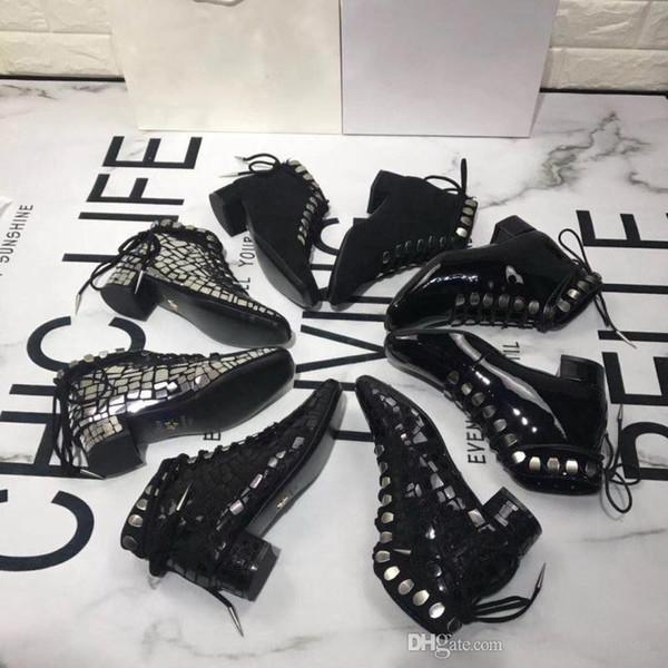 2019 Christian Dior yeni lüks kısa tüp Martin çizmeler metal logosu kadın Düşük Üst High-end Rahat Ayakkabılar Düz Moda sokak stil tasarımcı Sneakers 34-40
