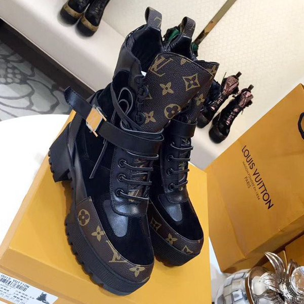New Fashion Soft Leather Women Ankle Boots Spring Autumn Vintage Shoes Lady Outdoor Boot Ladies Chunky Heels Footwears Laureate Platform