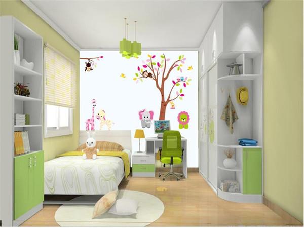 Acheter Taille Personnalisée 3d Photo Papier Peint Salon Murale Petits Singes Grimper Arbres 3d Peinture Murale Home Decor Creative Hôtel étude Papier