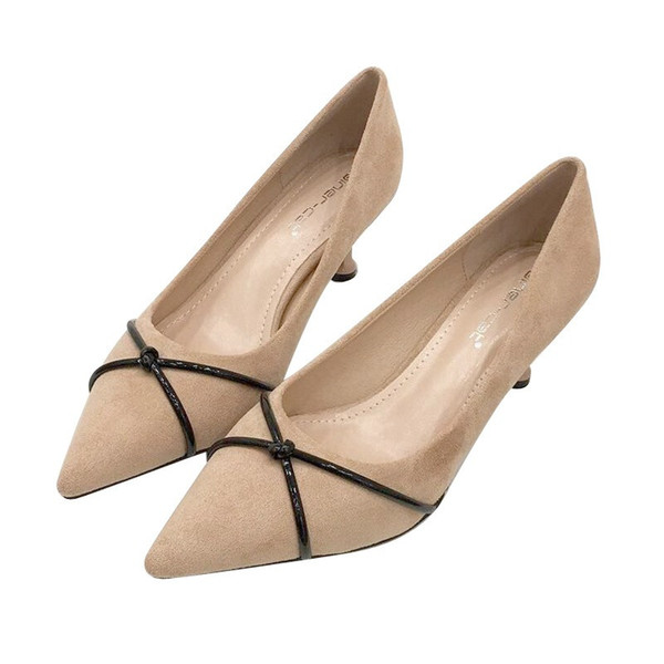 Pointed Toe Fine Nude Heels Black Pumps Women Shoes Elegant simple Sexy Thin Straps Party High Heels Ladies Pumps Wedding Shoes