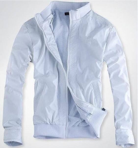 Hot Mens Luxus Stehkragen Jacken Herbst Winter Langarm Windjacke Windläufer Männer Reißverschluss Mode Jacke Mäntel Kleidung