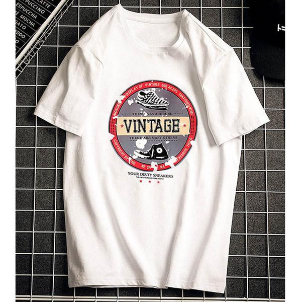Camisetas para hombre 2019 Verano Nueva camisa suelta Moda para hombre Estilo de la calle Tendencia Tops Camiseta de los hombres Ropa impresa ocasional más el tamaño S-6XL al por mayor