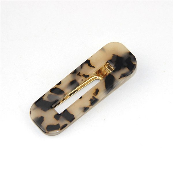 Leopard Rectangle Hair Clips