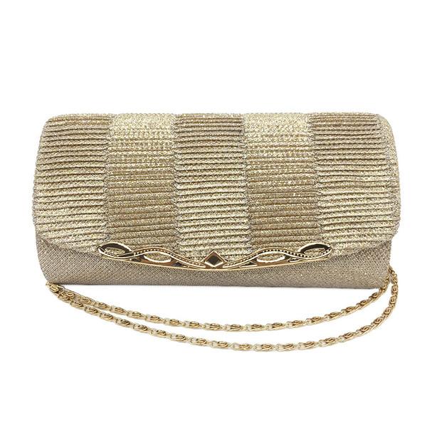 2019 Shiny Women Evening Bag Fashion Wedding Women Clutch Bag With Chain Glitter Party Bridal Ladies Handbags Bolsa Mujer
