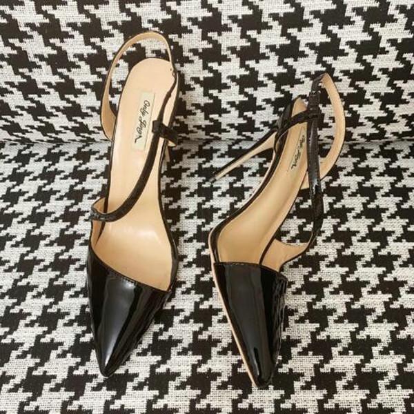 Stilettos Siyah Rugan strappy Noktası ayak seksi Yüksek topuk Parti Ayakkabı Kadınlar Shoes Yüksek Topuklar Pompalar BlingBling Sandalet 12cm 10cm 8cm