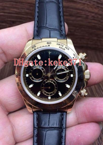 3 Farben 40mm Cosmograph 116515LN-0009 116515 116515LN-0008 116515LN-0004 Lederbänder Nein Chronograph 2813 Uhrwerk Automatik Herren-Uhr