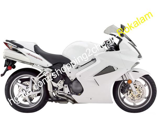 VFR 800 personalizzata carenatura Per la Honda VFR800 Cofano 2002-2012 ABS bianco kit in plastica Carrozzeria Moto Aftermarket (iniezione)