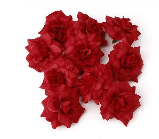 4.5cm Artificial Flowers Rose Head DIY For Home Bridal Wedding Party Decoration GB579