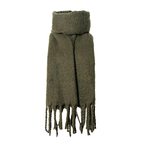 Winter Keep Warm Fashion Bandana Stole Tassel Solid Color Scarf Brand New Long Scarves For Women Poncho Lady Shawls