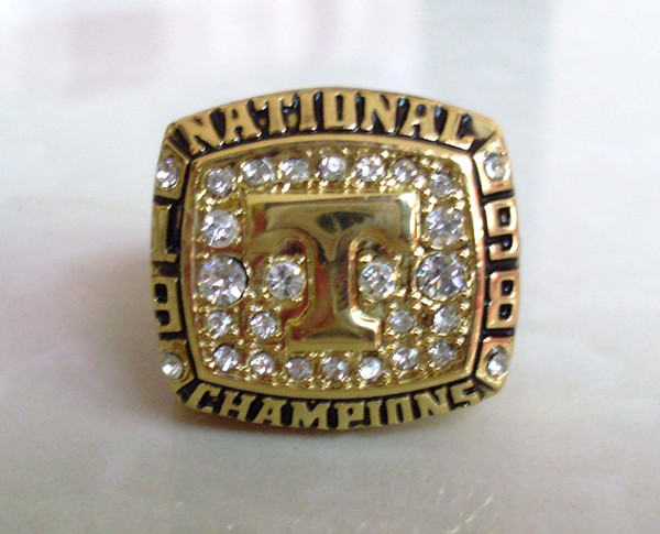 Дефект 1998 Tenneesee Cates Collge Football Национальный Чемпионат Кольцо Размер 11 Золото