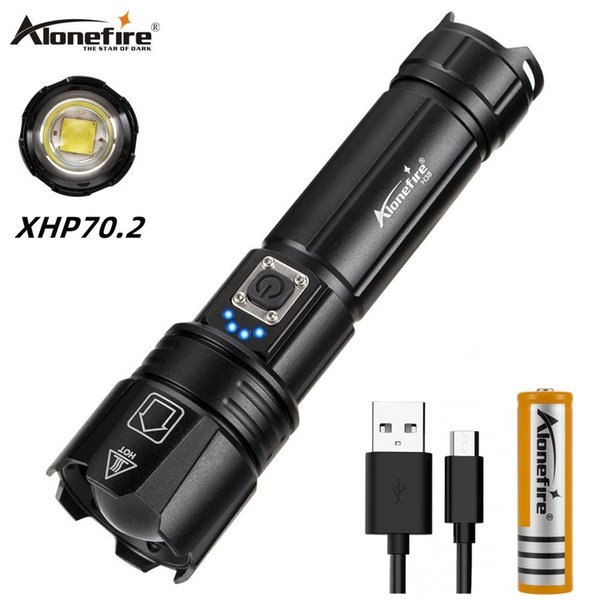 Ultra Bright XHP70.2 LED Tactical Flashlight 26650 Waterproof Torch Camping Lamp