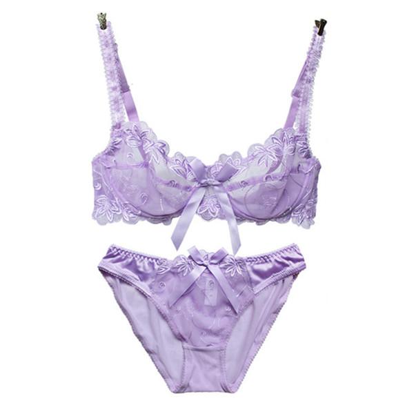 Sexy Lace Super Push Up Plunge Bra Set Lingerie Underwear Briefs ABCD D-F