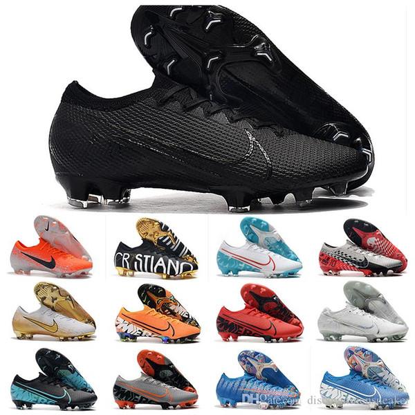 2019 erkek futbol krampon Superfly Mercurial Buharı 13 Elite FG cr7 futbol botları Ronaldo 7 açık Elite SE Neymar FG futbol ayakkabıları