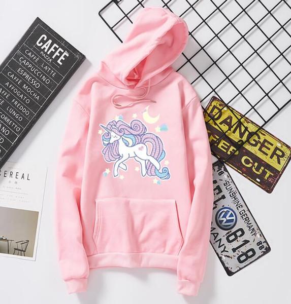 Primavera Autunno Cartoon Flying Elephant slaccia il maglione in pile di velluto Stampa modello felpe di marca donne di moda di abbigliamento felpe con cappuccio