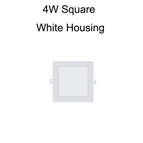 4W Square White Housing