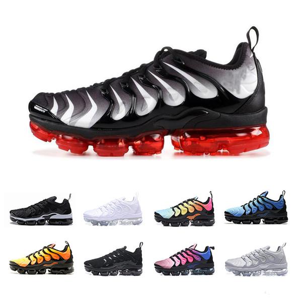 super cheap huge discount performance sportswear Compre Nike Vapormax Tn Plus Air Max Airmax 2019 TN Plus Ultra Tigre Hiper  Tubarão Azul Do Por Do Sol Amarelo Greedy Mens Tênis Para Homens TNs ...