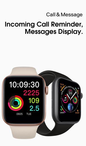 IWO9 Smart watch 44mm Series 4 case 1to1 Bluetooth Smartwatch Heart Rate Monitor Sport Wisrtwatch for Huawei Xiaomi iPhone Goophone montre