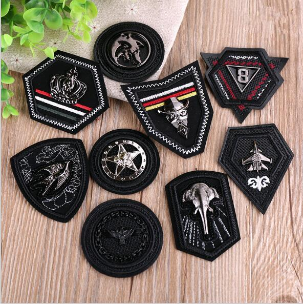 3D convex embroidery chapter down clothes metal cool skin labeling badge patch patch cloth punk bag