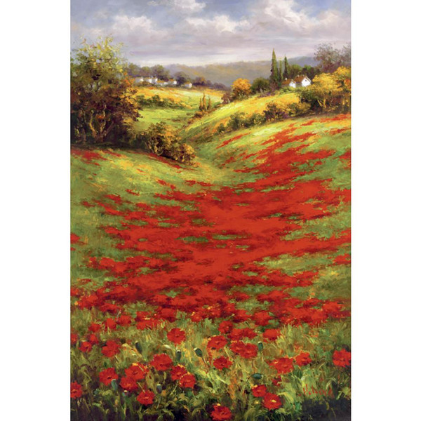 Hand painted Landscapes oil paintings Valley View II canvas art for wall decor