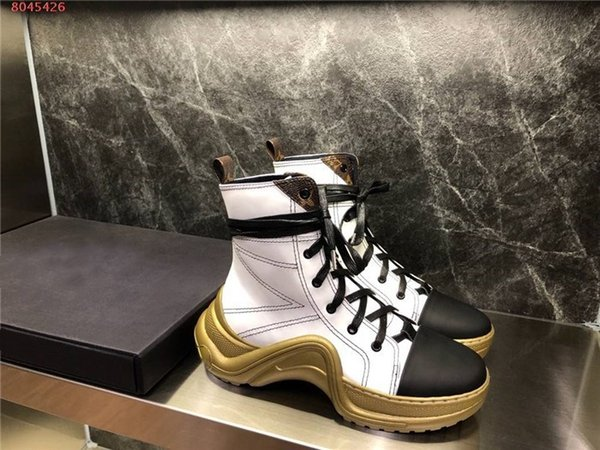 Mesdames correspondant de loisirs épais - SOLED élevé chaussures papa des bottes de sport haut occasionnels lacées haut chaussures de course