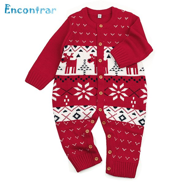 Encontrar Baby Snowflake Pattern Rompers Infan Animal Reindeer Jumpsuits Spring Children's Open Stitch Overalls 6M-24M,DC352