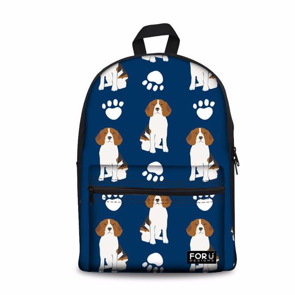Customized Large School Schoolbag for Kids Girls Beagles Shoulder Backpack Female Daypack Laptop Bagpack Feminine Mochilas
