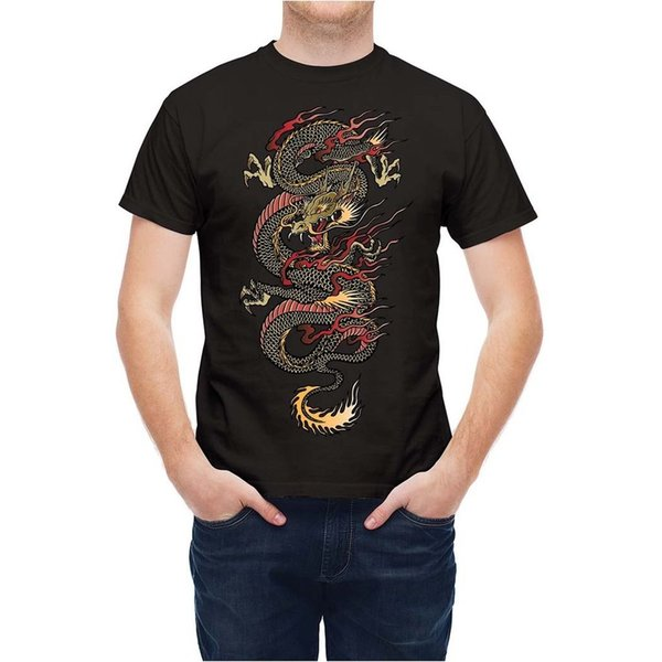 T shirt Martial Arts Traditional Chinese Dragon Size Discout Hot New Tshirt Hoodie Hip Hop T-shirt
