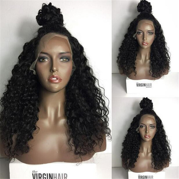 Lace Front Wigs 130-180% Density Swiss Lace Hand Tied Natural Color Loose Wave Full Lace Wigs Brazilian Hair