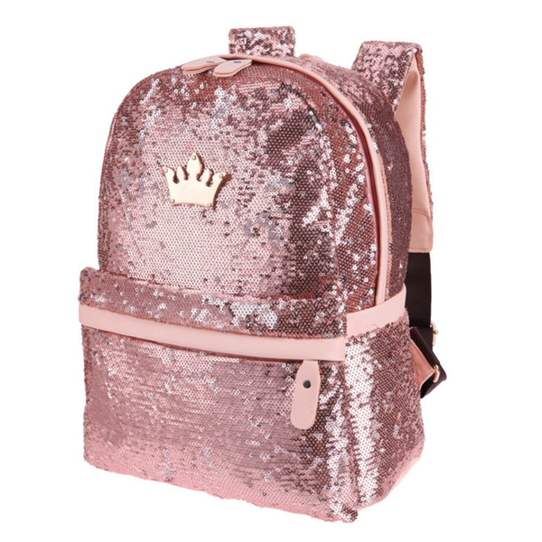 uggage Bags Backpacks Shining Sequins Backpack Women 2019 Sac a Main Travel Small Backbag Leisure Trend School Bags for Teenage Girls Bol...