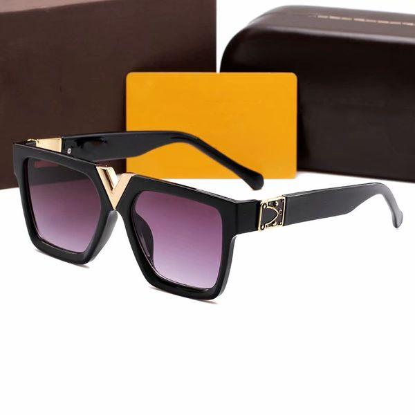 Milionário de luxo óculos de sol para homens moda popular full frame vintage 2371 óculos de sol dos homens de alta qualidade óculos anti-uv400 lente com caixa