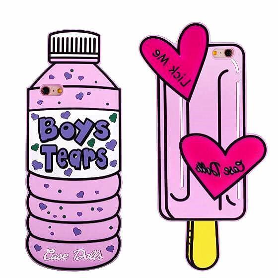 Per Iphone X XS 8 7 Caso 3D Kawaii Ice Cream Silicon Boy lacrime bottiglia copertura per Iphone7 Plus 6 S 6s Plus 6plus 5 5 s Se Phone Case