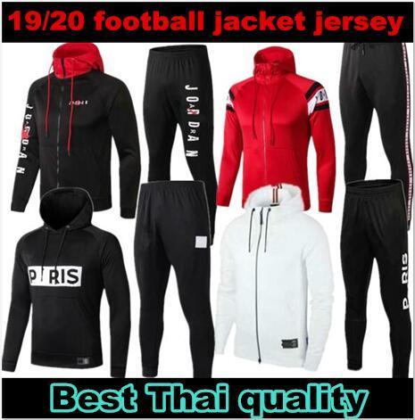 2019 2020 PSG giacca con cappuccio Survêtement 1920 PSG Mbappe giacca calcio TUTA Jordam aria di calcio