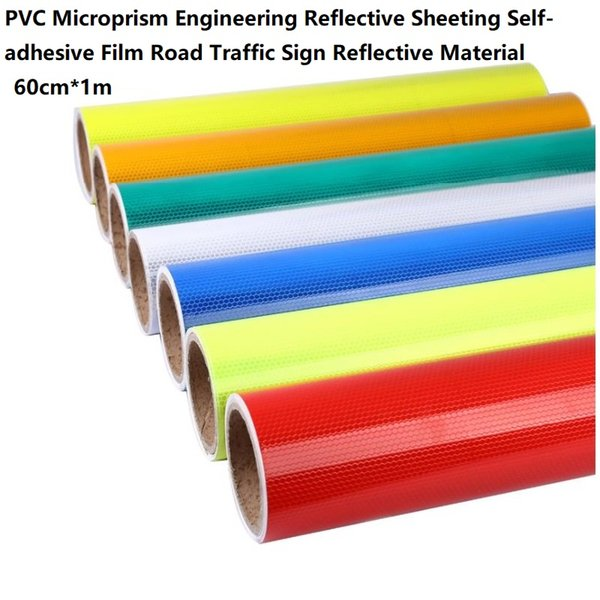 top popular PVC Microprism Engineering Reflective Sheeting Self-adhesive Road Traffic Sign Material 2021