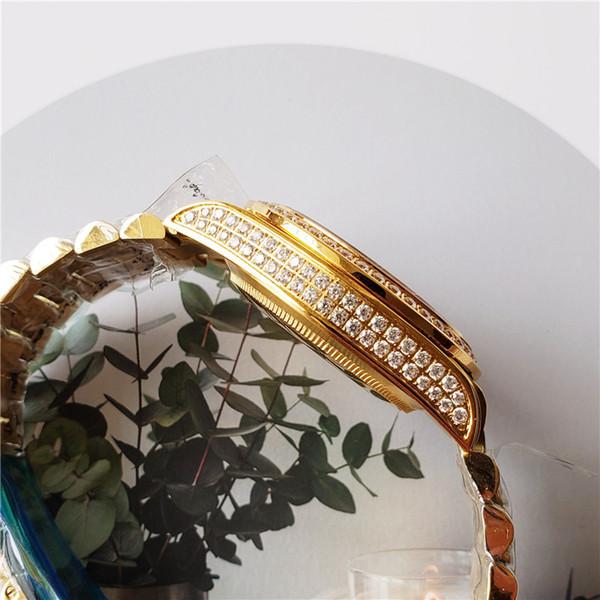 2019 di lusso del Mens Watche impermeabile orologi meccanici da uomo Orologi Golden Diamond della vigilanza dell'acciaio inossidabile Big Bang Guarda orologio di lusso caldo