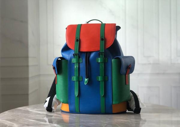 The latest style brand luxury shoulder bag backpack handbag travel bag small shoulder bag building block color original leather top craft ma