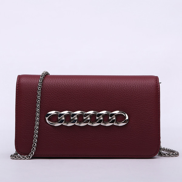 Charm2019 Shoulder Hand Take Ma'am Genuine Leather Baoding Bag Pattern Mobile Phone Chain Woman Package