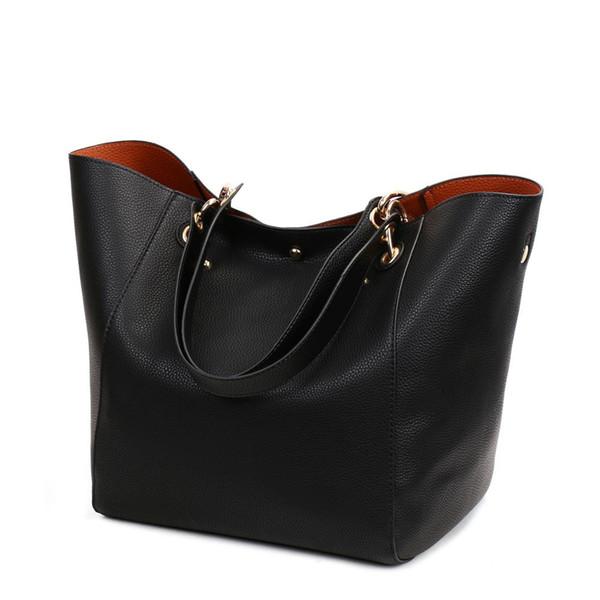 KYYSLO Large Capacity Retro Bucket Tote Handbag Female Trend Leisure Europe And America Fashion Wild Shoulder Bag Women