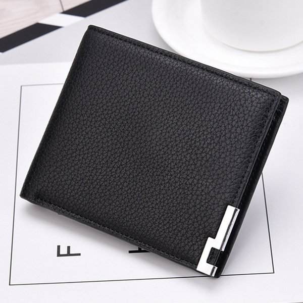 PU Leather Wallets Men Brand Purses For Men Black Brown Short Wallet With Card Holder Male Purse Coin Money S Wallets
