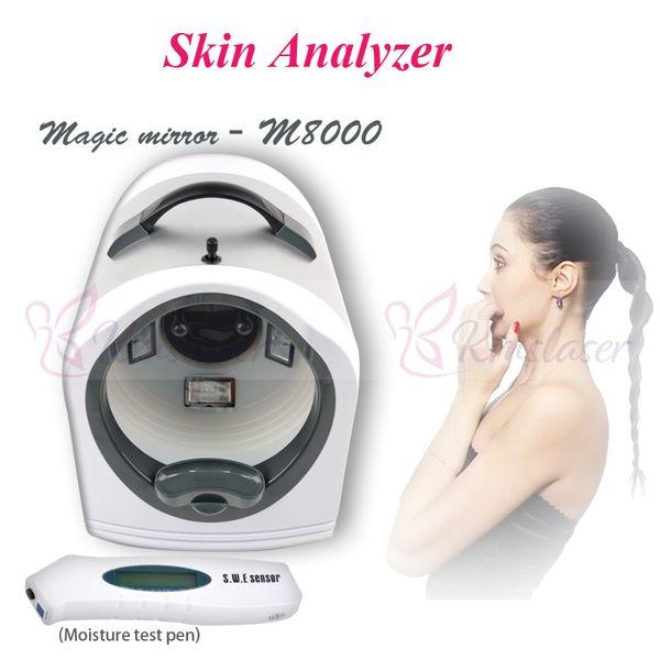 2019 Prezzo basso !!! test cutaneo macchina di analisi del viso analizzatore della pelle scanner pelle per la macchina uso domestico
