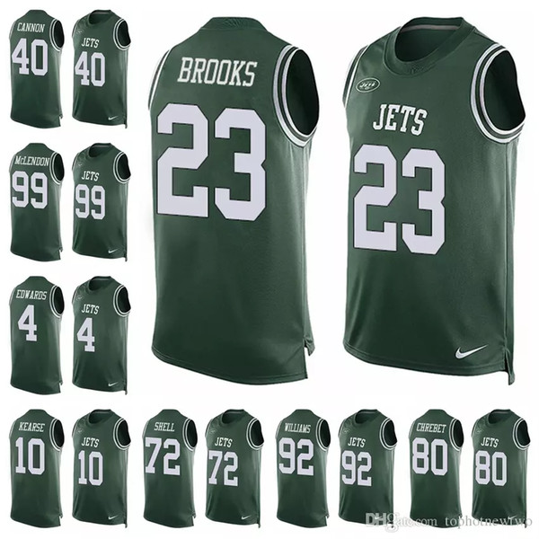 innovative design 7a424 fb543 2019 New York Jets Green Player Name & Number Tank Top 14 Sam Darnold  Jerseys 33 Jamal Adams 12 Joe Namath Limited Football Jersey 99 From ...