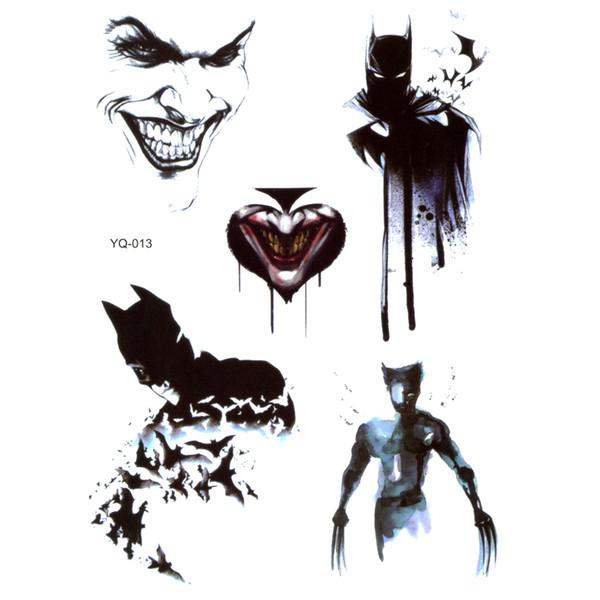 5pcs Gotham City superhero Waterproof Temporary Tattoos men Fake Tattoo Tatuajes Glitter Tattoo Temporary tatoo Cheap Stuff