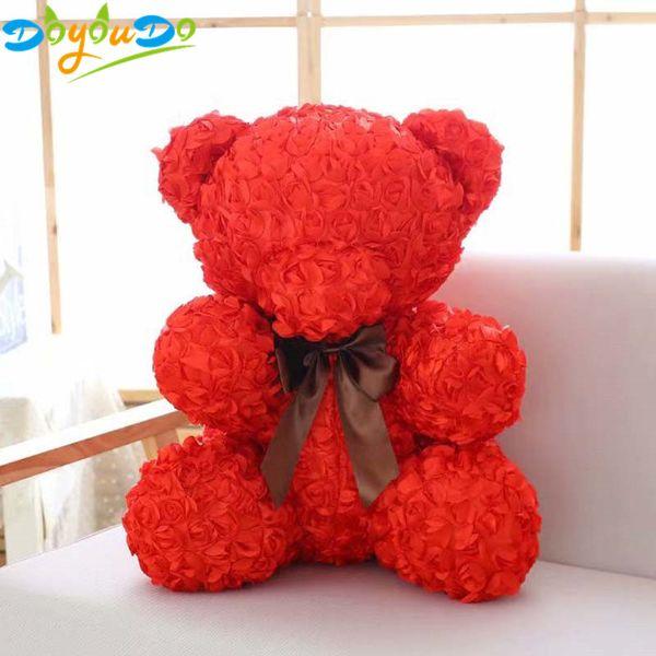 60cm Rose Bear Plush Toys Teddy Bear Soft Toy Stuffed Animals Dolls Girlfriends Presents Valentines Day Gift