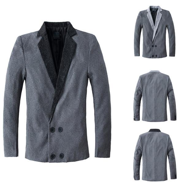 Herren Herbst Winter Beiläufige Dünne Lange Hülse Anzugjacke Trenchcoat Top Bluse NEUE Mens Fashion Brand Blazer Britischen stil
