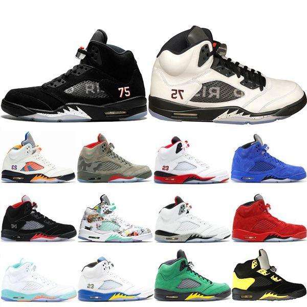 Top Fashion 5 5s Mens Basketball Shoes Camo Light Aqua Oregon Ducks Black Metallic Top Quality Designer Shoe Sports Trainers Sneakers 40-47