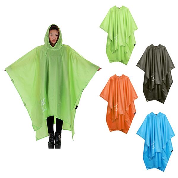 Multi-fonctions Raincoat Poncho Couverture, Randonnée Imperméables One-Piece Poncho Raincoat Tapis d'extérieur