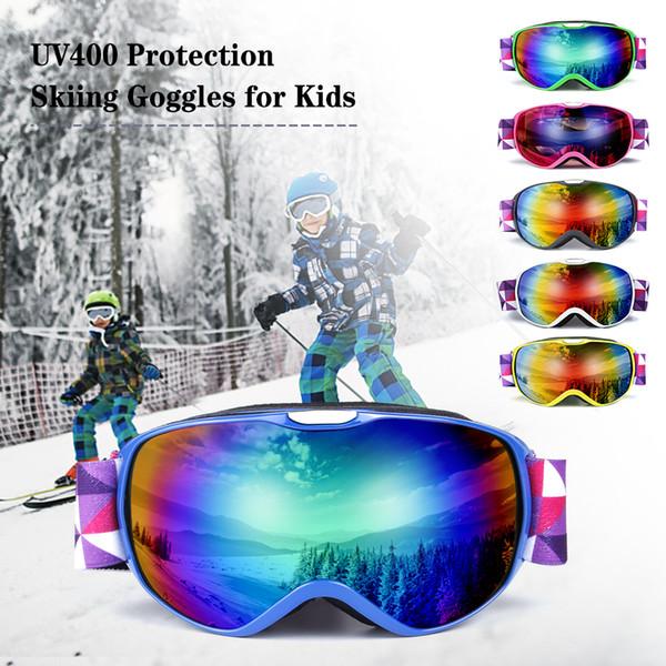 Children UV400 Protection Ski Goggles Anti-fogging Goggles Skiing OTG Goggle Climbing Skating Snow Sports Eyewear Glass for Kids