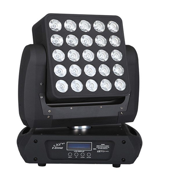 25*12w RGBW 4in1 5*5 led matrix blinder beam moving head stage light for nightclub event lighting