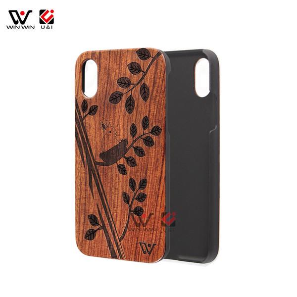 Пустой деревянный чехол для телефона Bamboo Phone Cover для iPhone 8 Деревянный аксессуар для телефона