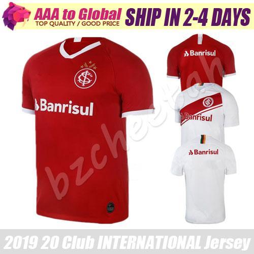 Brezilya Spor Kulübü Internacional forması 2020 EV Kırmızı Futbol Formaları N. LOPEZ D. ALESSANDRO POTTKER Boş Damiao Silva Özel Futbol Gömlek